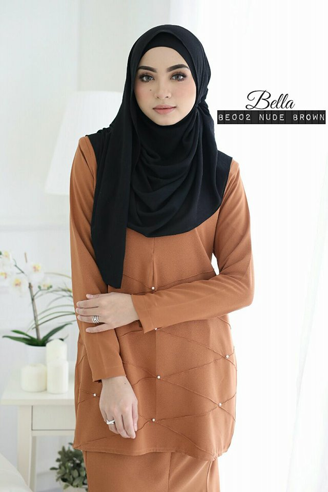 KURUNG MODEN BELLA BROWN 2