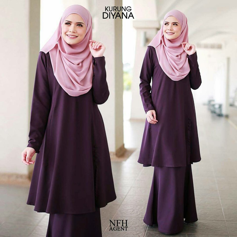 KURUNG MODEN DIYANA DARK PURPLE