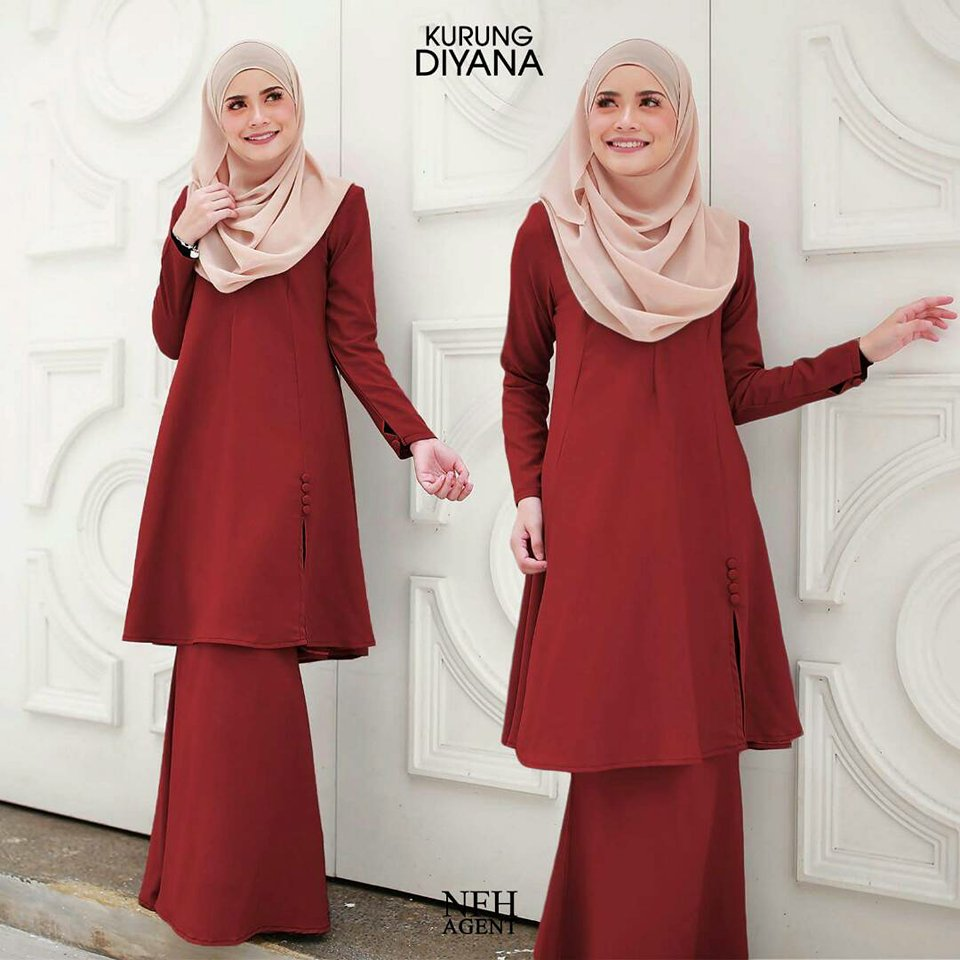 KURUNG MODEN DIYANA RED RUBY