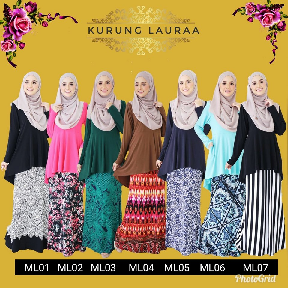 KURUNG MODEN LYCRA LAURAA ML ALL