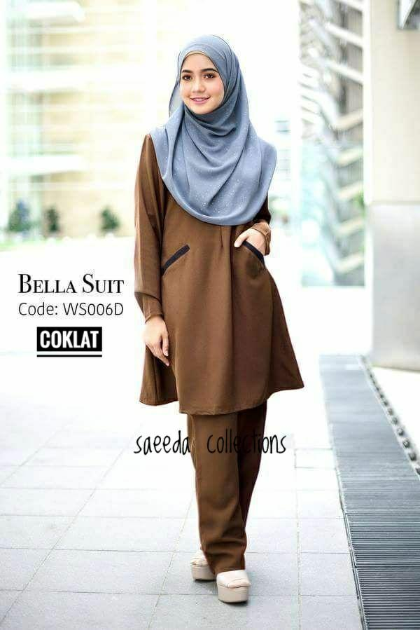 SUIT MUSLIMAH BELLA BROWN