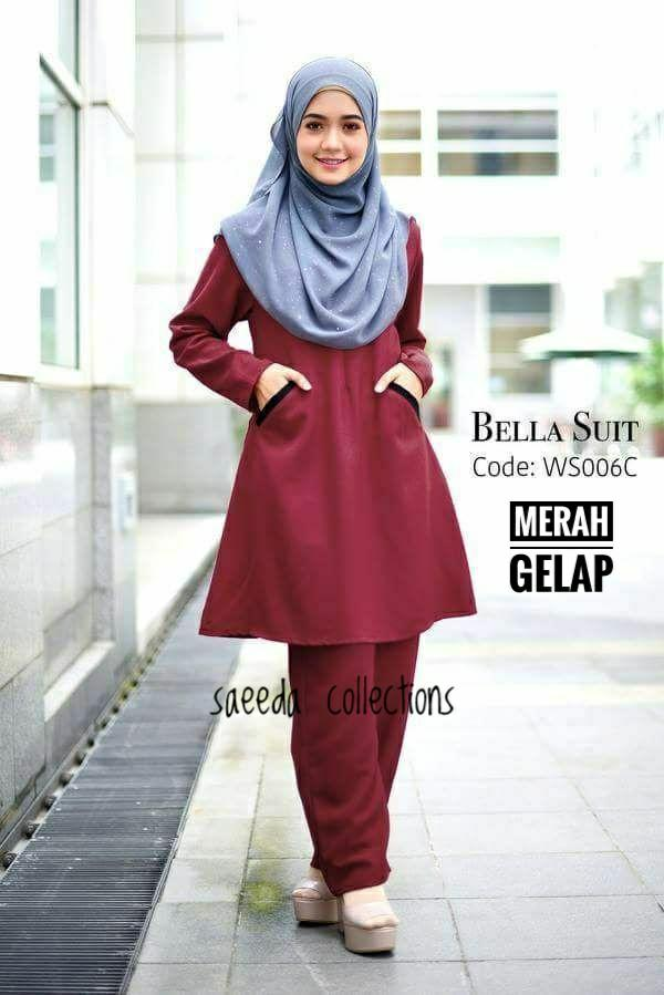 SUIT MUSLIMAH BELLA D RED