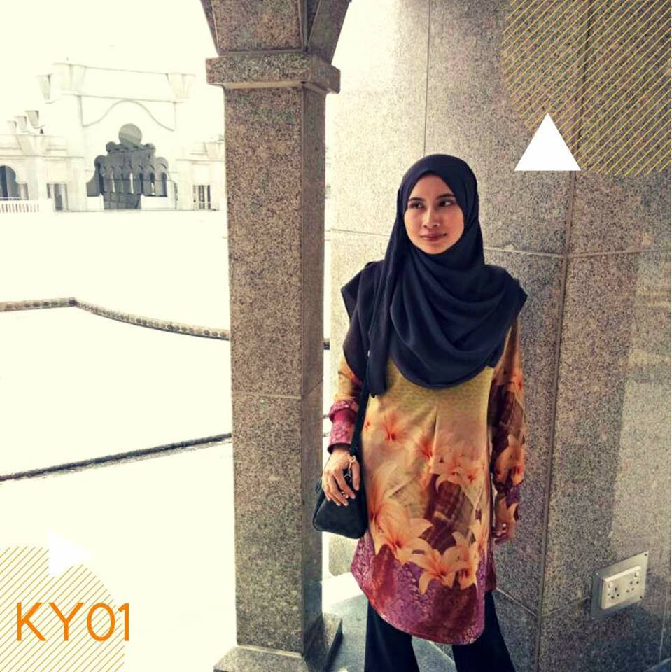 BLOUSE MUSLIMAH MOSS CREPE KAYLA KY01 1