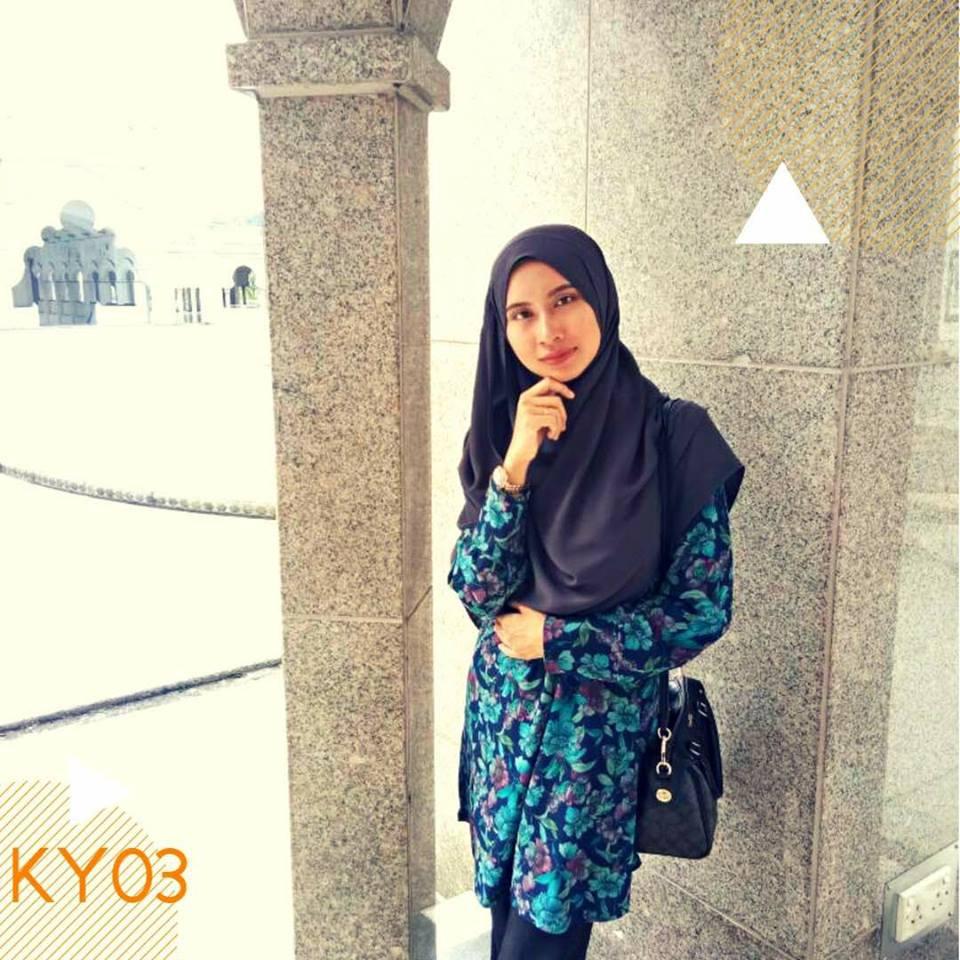 BLOUSE MUSLIMAH MOSS CREPE KAYLA KY03 1