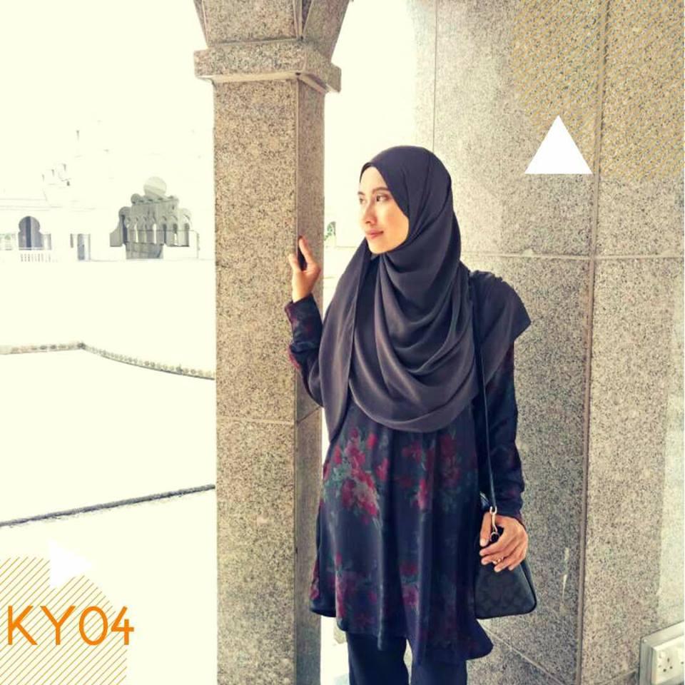 BLOUSE MUSLIMAH MOSS CREPE KAYLA KY04 1