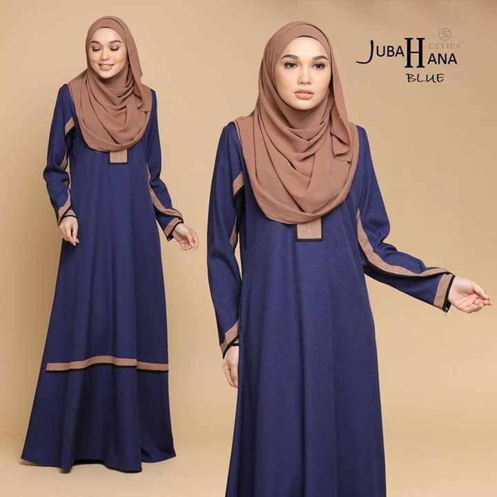 JUBAH CREPE HANA BLUE 2