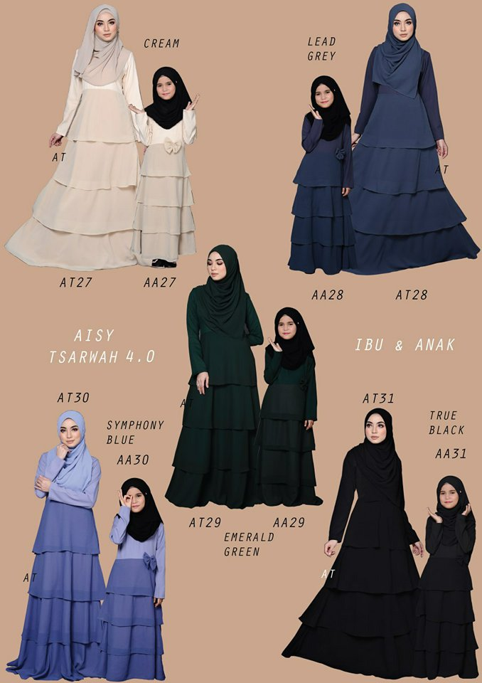JUBAH RAYA SEDONDON AISY TSARWAH 4.0 AT ALL 1
