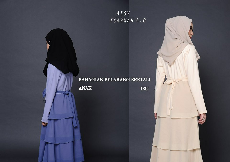 JUBAH RAYA SEDONDON AISY TSARWAH 4.0 AT BACK