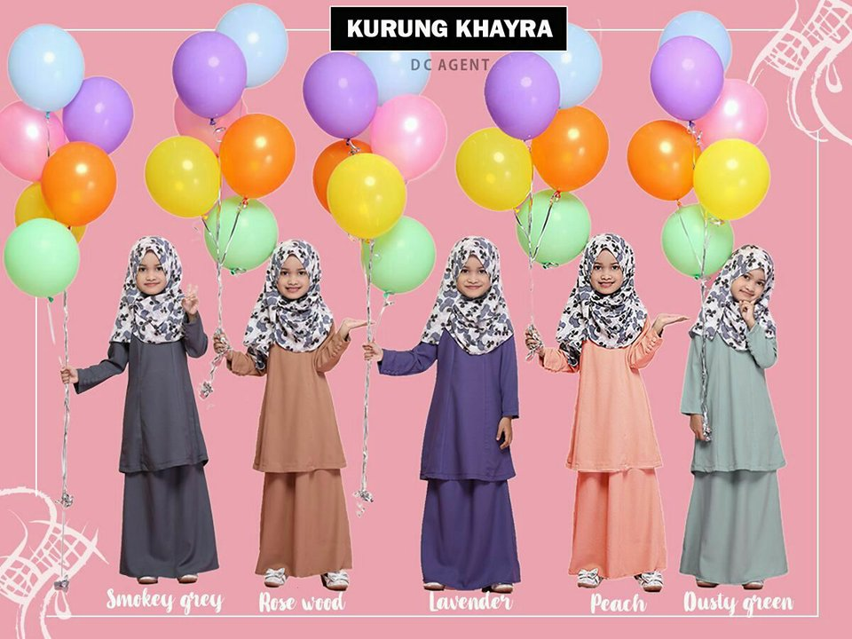 KURUNG MODEN RAYA SEDONDON 2018 KHAYRA ALL KIDS