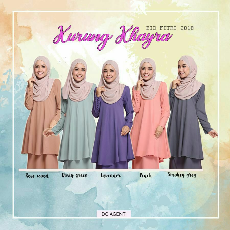 KURUNG MODEN RAYA SEDONDON 2018 KHAYRA ALL MOM
