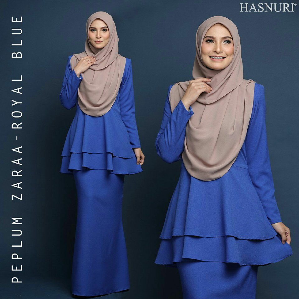 PEPLUM RAYA ZARAA ROYAL BLUE