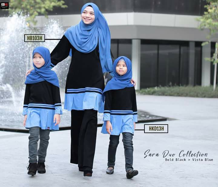 TSHIRT COTTON MUSLIMAH SARA SEDONDON HB103 ALL
