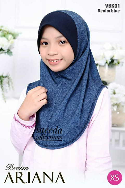 TUDUNG DENIM ARIANA KIDS VBK01