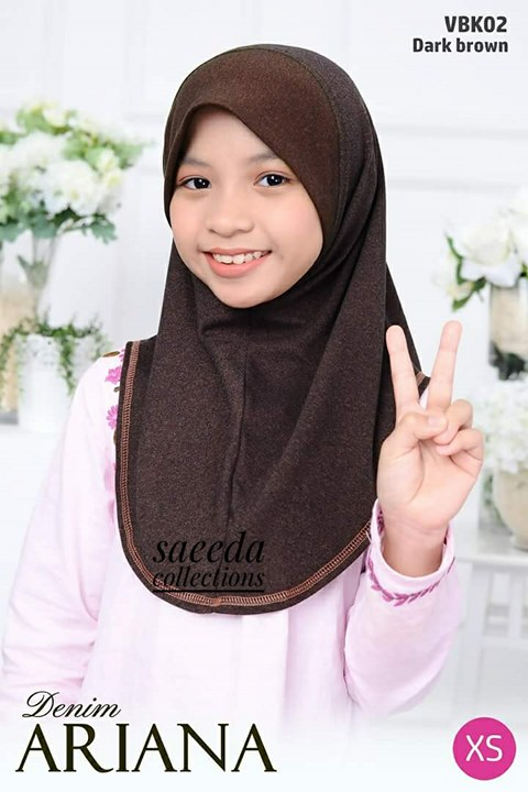 TUDUNG DENIM ARIANA KIDS VBK02