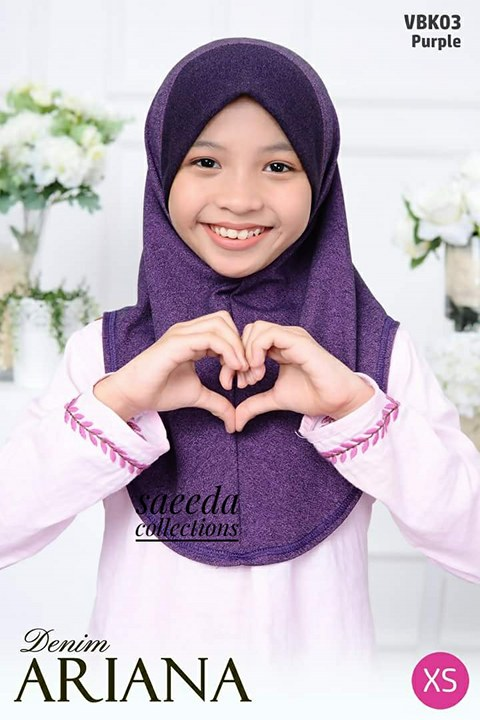 TUDUNG DENIM ARIANA KIDS VBK03
