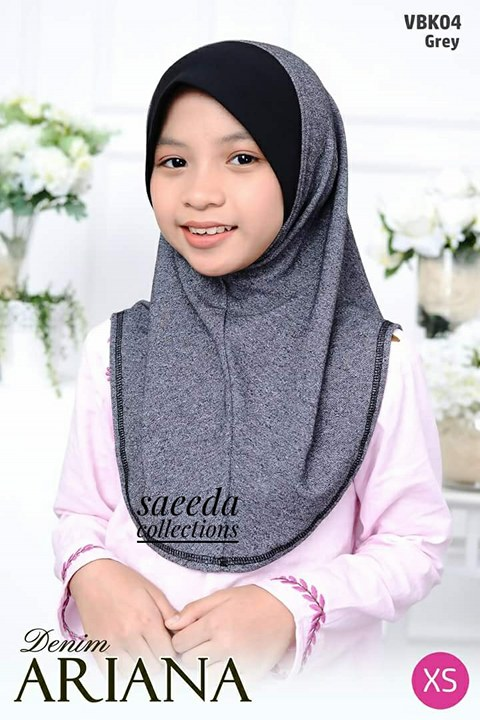 TUDUNG DENIM ARIANA KIDS VBK04