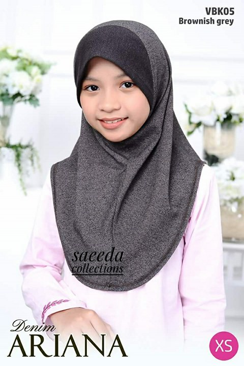 TUDUNG DENIM ARIANA KIDS VBK05
