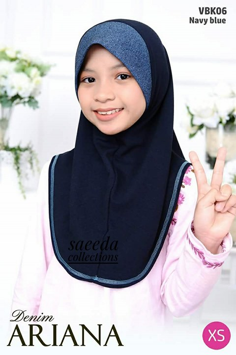 TUDUNG DENIM ARIANA KIDS VBK06