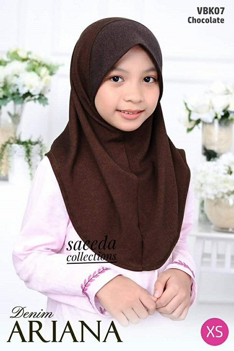 TUDUNG DENIM ARIANA KIDS VBK07