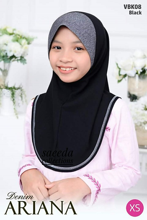 TUDUNG DENIM ARIANA KIDS VBK08
