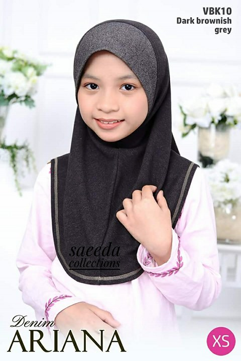 TUDUNG DENIM ARIANA KIDS VBK10