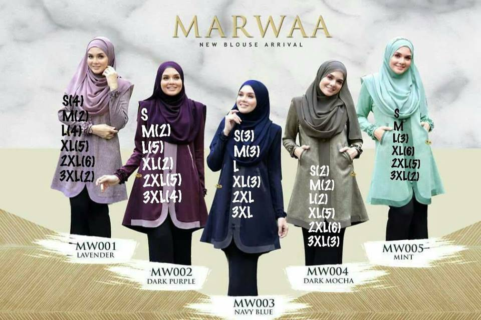 BLOUSE MUSLIMAH CREPE MARWA ALL