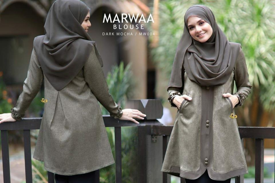 BLOUSE MUSLIMAH CREPE MARWA VIEW BACK