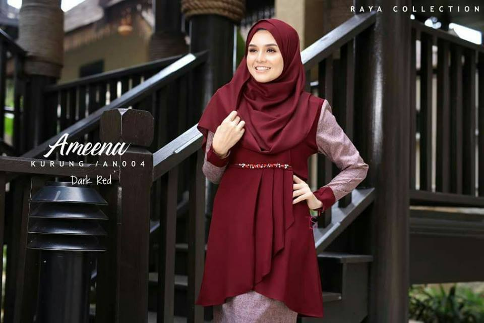 KURUNG MODEN RAYA PLEATED AMEENA AN004 2