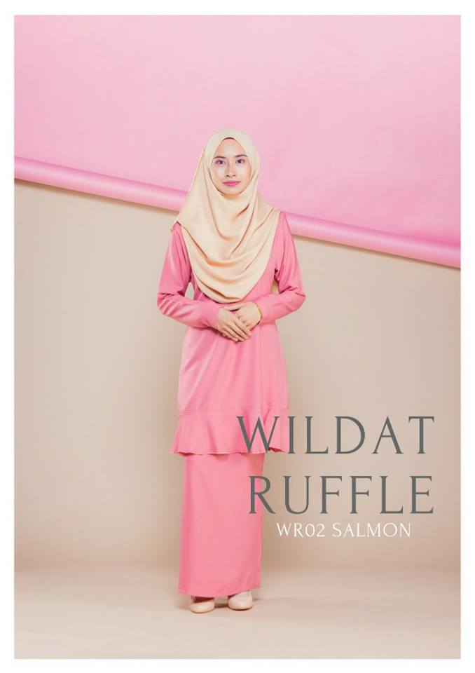 BAJU KURUNG MODEN RUFFLE RAYA WILDAT WR02