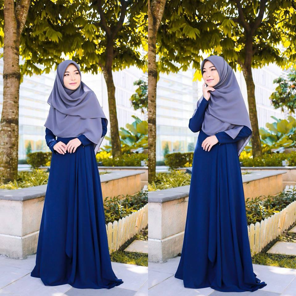 DRESS RAYA TERKINI AISYAH BLUE 1