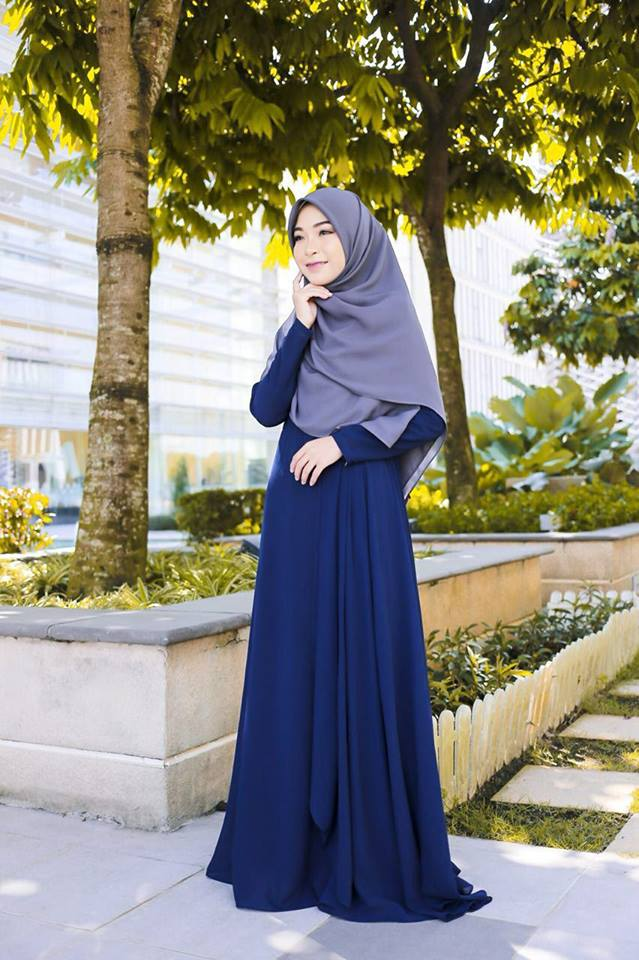 DRESS RAYA TERKINI AISYAH BLUE 2