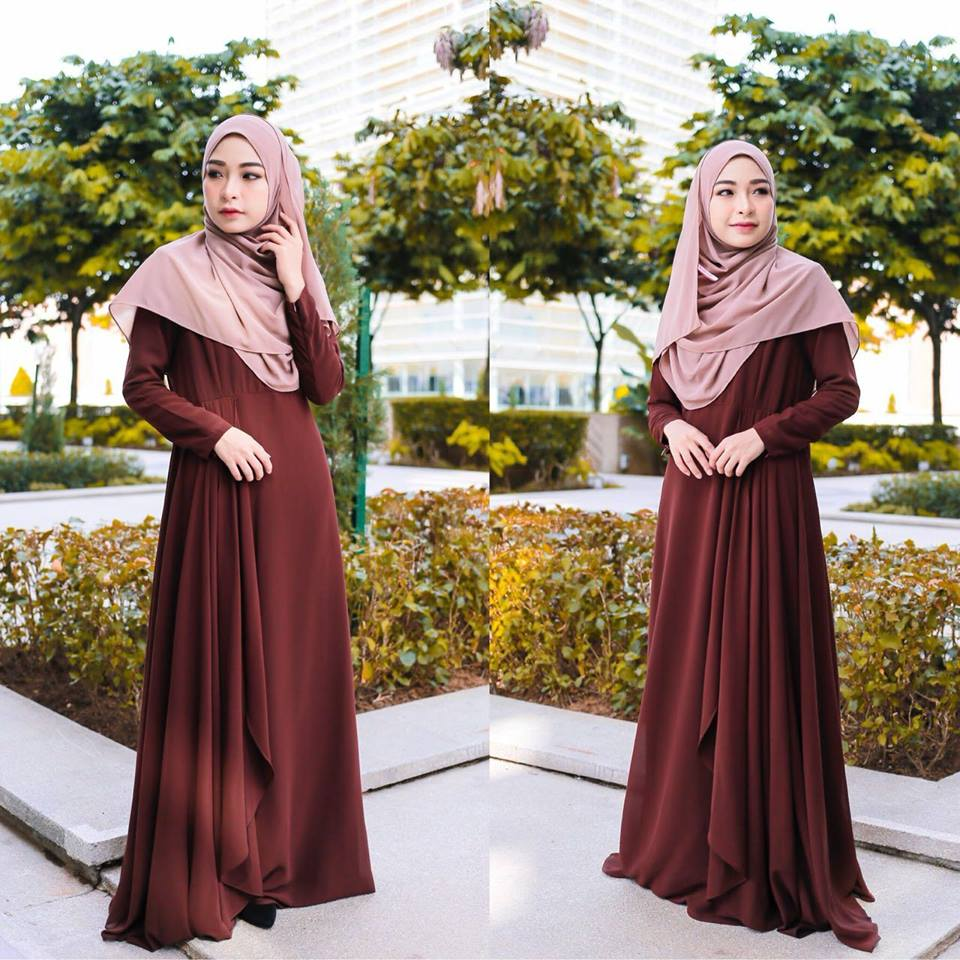 DRESS RAYA TERKINI AISYAH BROWN 1
