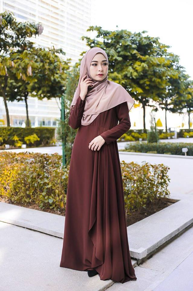 DRESS RAYA TERKINI AISYAH BROWN 2