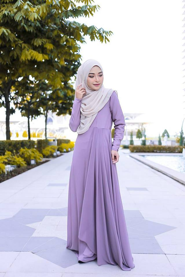 DRESS RAYA TERKINI AISYAH GREY 1