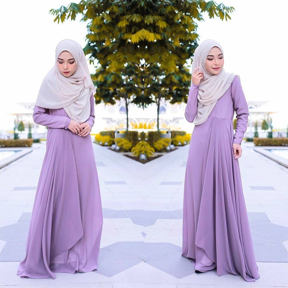 DRESS RAYA TERKINI AISYAH GREY 2