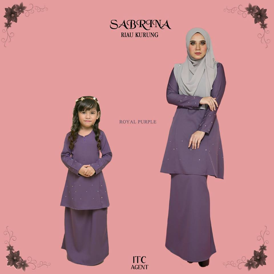 KURUNG MODEN RAYA SEDONDON SABRINA ROYAL PURPLE 1