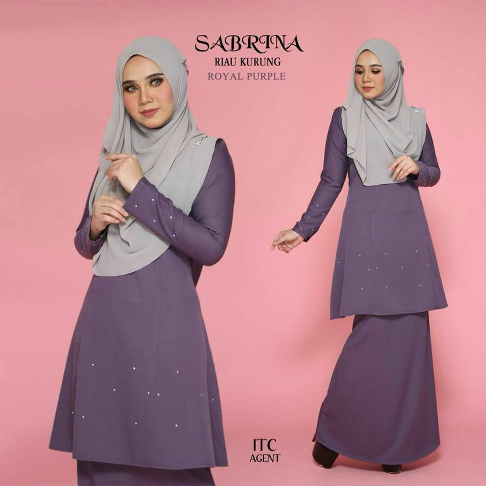 KURUNG MODEN RAYA SEDONDON SABRINA ROYAL PURPLE 2