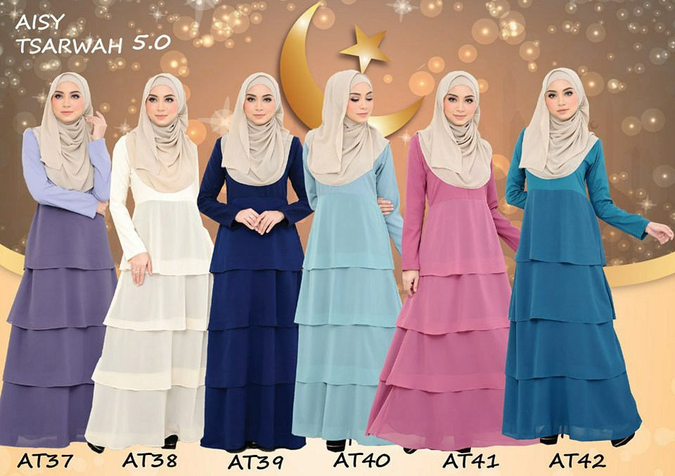 DRESS RAYA CREPE CHIFFON LINING AISY TSARWAH 5.0 AT ALL 1