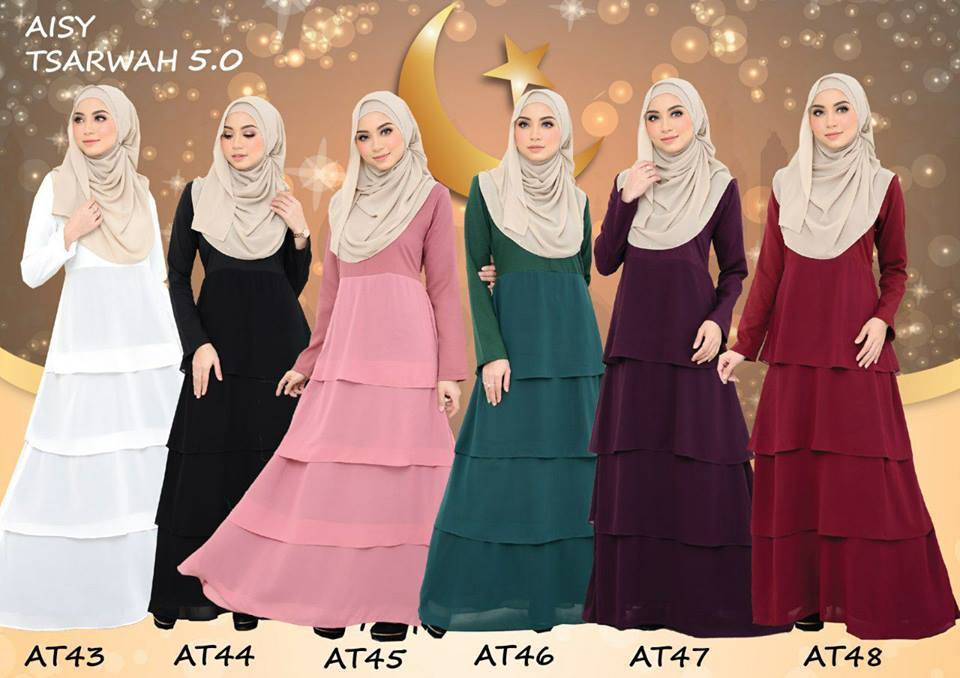 DRESS RAYA CREPE CHIFFON LINING AISY TSARWAH 5.0 AT ALL 2