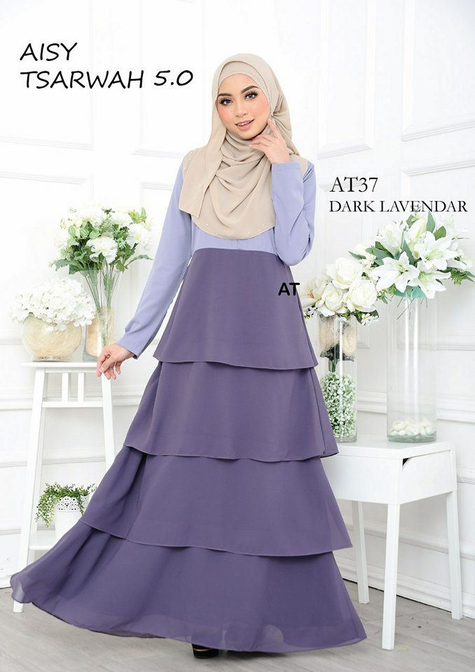 DRESS RAYA CREPE CHIFFON LINING AISY TSARWAH 5.0 AT37 1