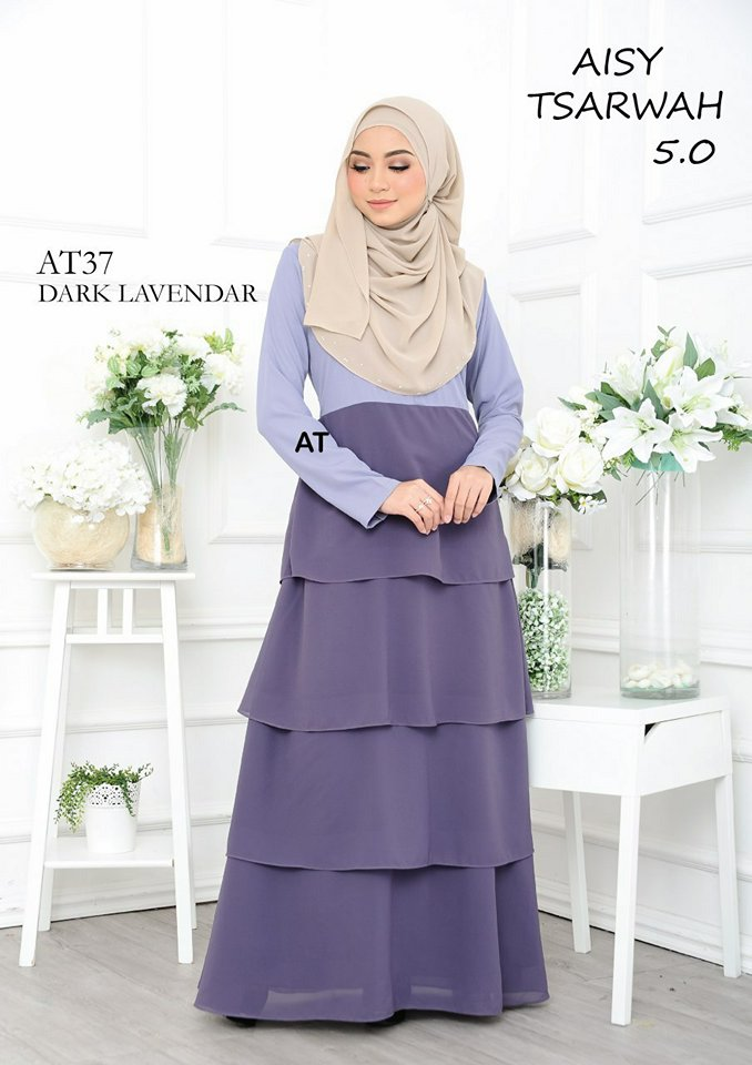 DRESS RAYA CREPE CHIFFON LINING AISY TSARWAH 5.0 AT37 2