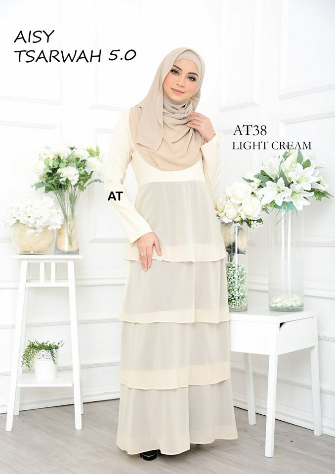 DRESS RAYA CREPE CHIFFON LINING AISY TSARWAH 5.0 AT38 1