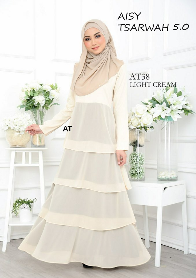 DRESS RAYA CREPE CHIFFON LINING AISY TSARWAH 5.0 AT38 2