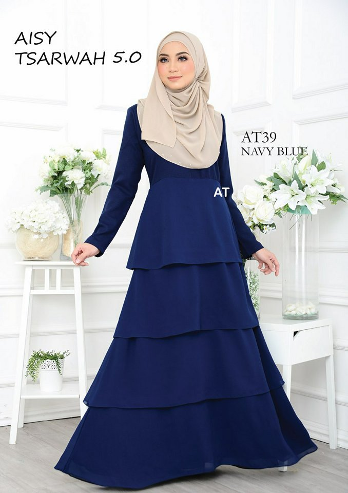 DRESS RAYA CREPE CHIFFON LINING AISY TSARWAH 5.0 AT39 1