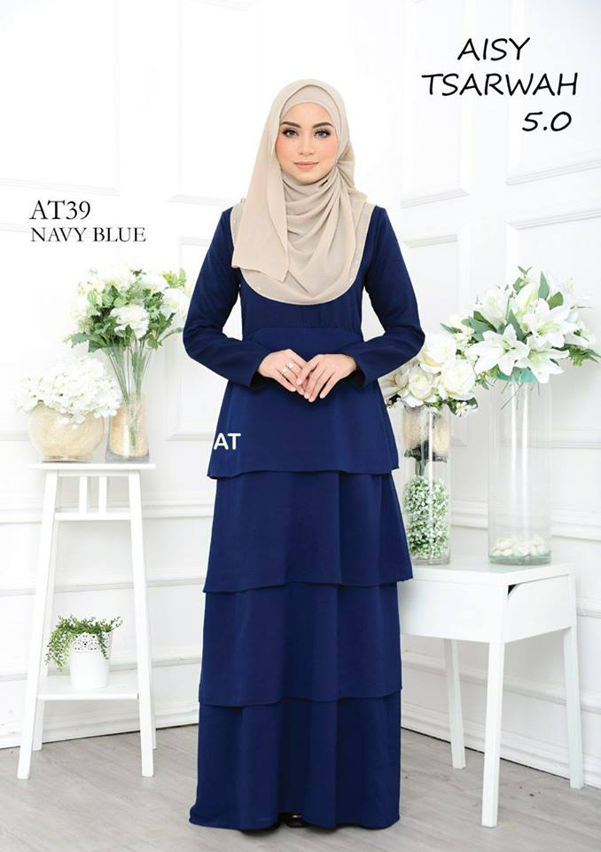 DRESS RAYA CREPE CHIFFON LINING AISY TSARWAH 5.0 AT39 2