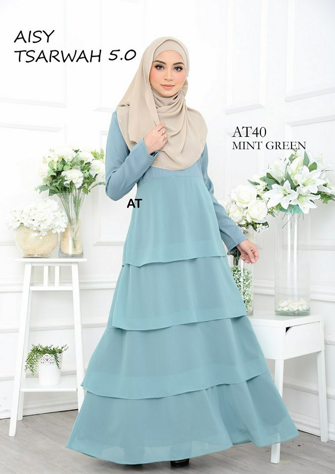 DRESS RAYA CREPE CHIFFON LINING AISY TSARWAH 5.0 AT40 1