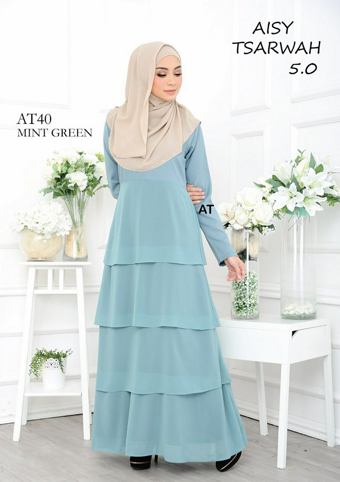 DRESS RAYA CREPE CHIFFON LINING AISY TSARWAH 5.0 AT40 2