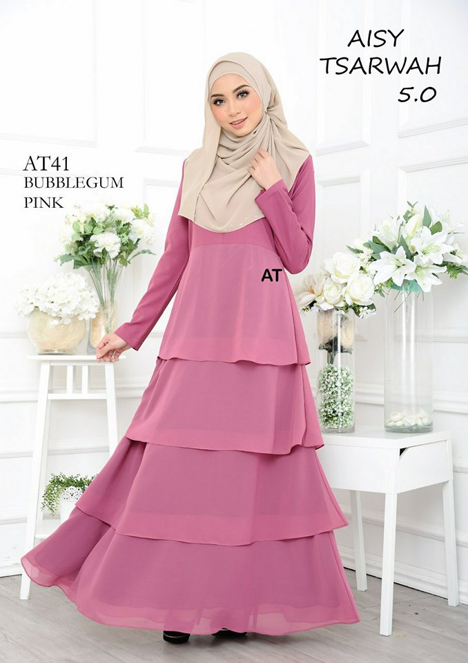 DRESS RAYA CREPE CHIFFON LINING AISY TSARWAH 5.0 AT41 1