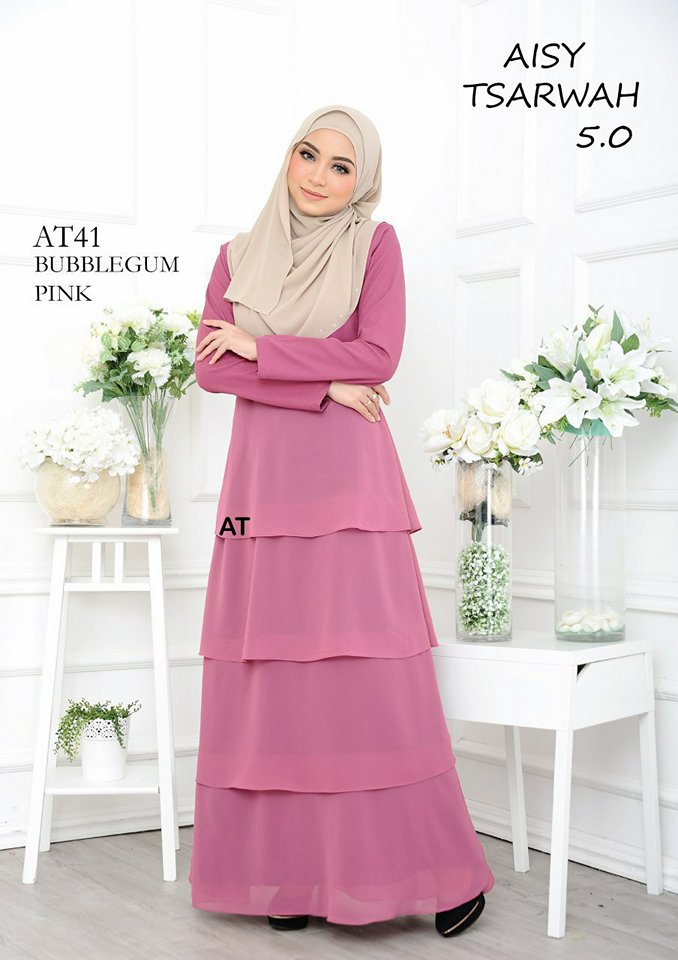 DRESS RAYA CREPE CHIFFON LINING AISY TSARWAH 5.0 AT41 2