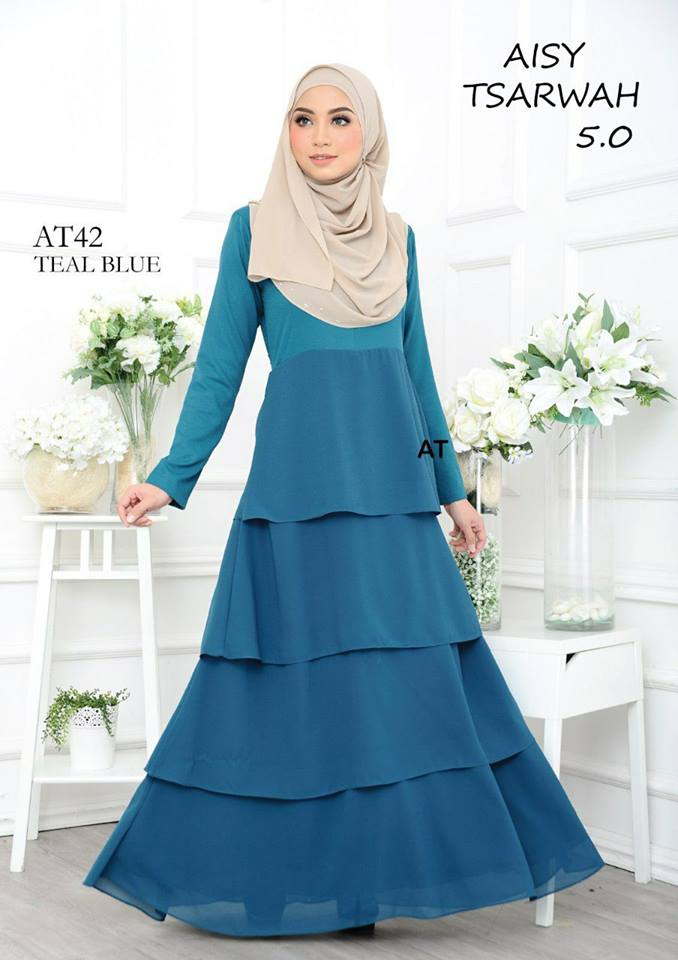 DRESS RAYA CREPE CHIFFON LINING AISY TSARWAH 5.0 AT42 1